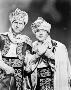Bud Abbott and Lou Costello in a publicity photo from Lost in a Harem