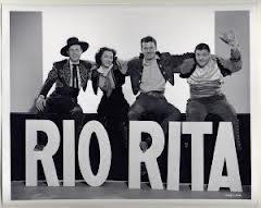 Rio Rita cast - Bud Abbott, Kathryn Grayson, John Carroll, Lou Costello