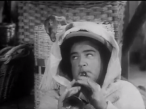 Abbott and Costello Meet the Mummy - Lou as a snake charmer