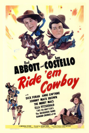 Ride 'Em Cowboy movie poster - Bud Abbott, Lou Costello