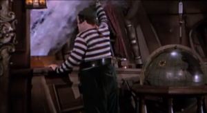 Abbott and Costello Meet Captain Kidd - Lou Costello's running gag with getting soaked from the porthole