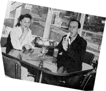 Betty and Bud Abbott eating