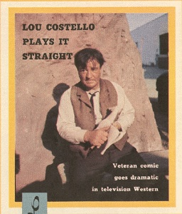 TV Guide - Lou Costello plays it straight