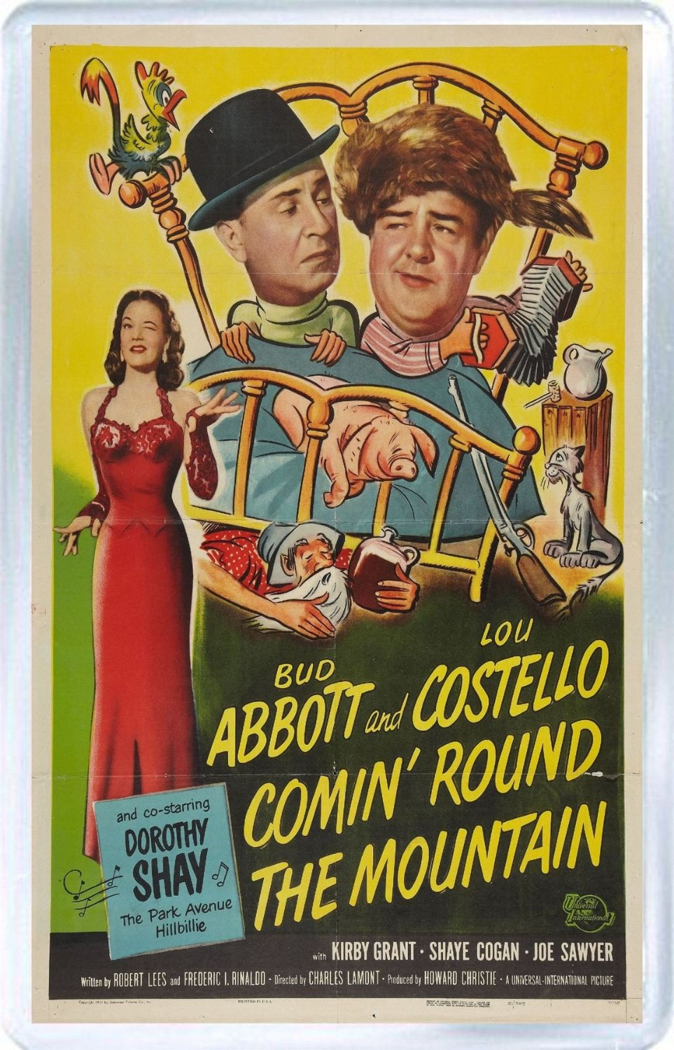 Comin' Round the Mountain, starring Abbott and Costello, Dorothy Shay, Margaret Hamilton