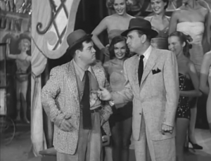 Lou Costello and Bud Abbott getting soaked in The Buzzing Bee, aka. Busy Bee