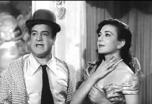 Lou Costello and Nicla Di Bruno at the kissing booth
