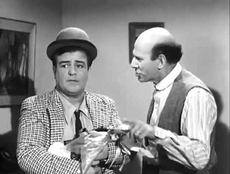 Lou Costello, the duck, and Sid Fields in Pots and Pans