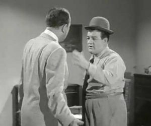 Loafing - Bud Abbott confuses Lou Costello about loafing around vs. making loaves of bread -- loafing -- at a bakery