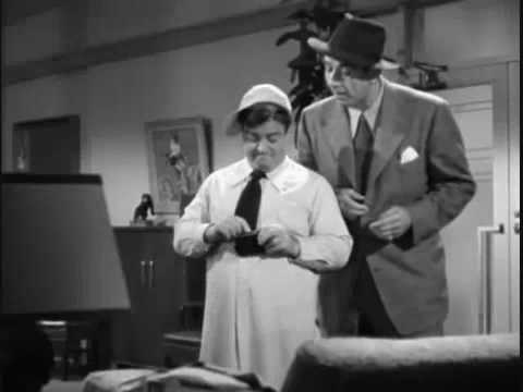 "I bet you that you're not here -€"" Abbott and Costello routine"
