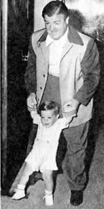 Lou Costello with his son, Lou Costello Jr.