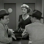 """Abbott and Costello's, Turkey Sandwich and Cup of Coffee routine from Keep 'Em Flying"""", 1941."""