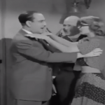 """Mr. Fields bribes Bud Abbott to let his """"homely"""" niece Columbine win the contest - and they can stay"""