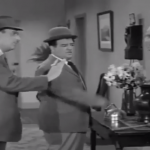 Bud Abbott and Lou Costello are about to be thrown out of Sid Fields' apartment complex for being 5 months behind on their rent
