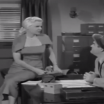Mabel and Larry at the loan office