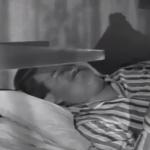 Lou saws while Larry sleeps