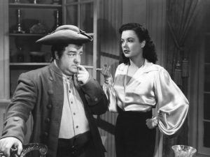 Lou Costello and Marjorie Reynolds in The Time of their Lives