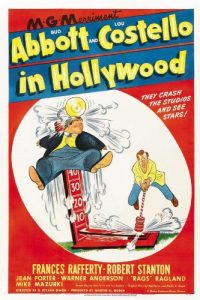 Abbottt and Costello in Hollywood movie poster