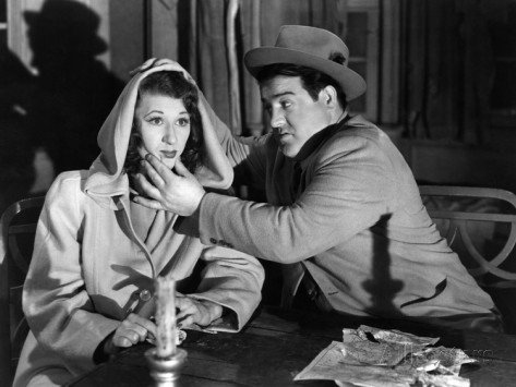 """Joan Davis and Lou Costello - """"Keep one eye on that candle, one eye on the other candle, and one eye on me!"""""""