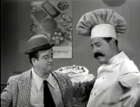 Lou Costello ordering his birthday cake from Mr. Bacciagalupe