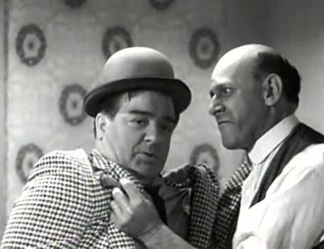 A very funny bit that Sid Fields did many times, including on their radio show, is to have Sid take offense at something that Lou Costello says. Every time that Lou says anything. It's a funny routine, provided that doesn't go on too long. The example below is from The Abbott and Costello Show episode, The Birthday Party.