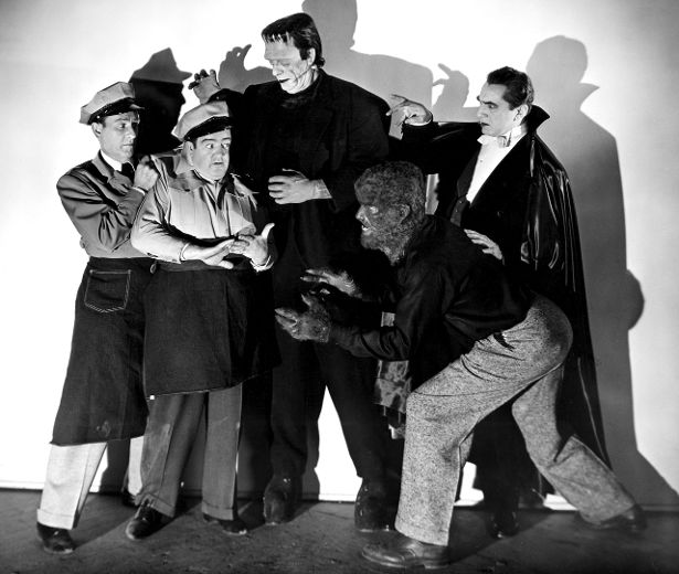 Bud Abbott and Lou Costello Meet Frankenstein's monster, Dracula, and the Wolf Man