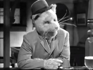 "Tubby gets turned into a giant mouse in ""Abbott and Costello Meet Dr. Jekyll and Mr. Hyde"""
