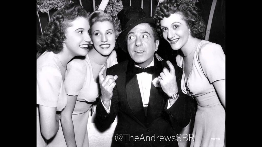 """The Andrews Sisters with Ted Lewis in """"Hold That Ghost"""""""