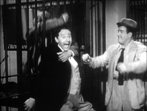 Lou Costello gets revenge on Mr. Sidney at the end of the Jail skit