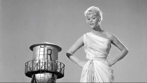 """Emmy Lou (Dorothy Provine) standing up to her uncle in """"The Thirty Foot Bride of Candy Rock"""""""